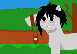 Size: 819x582 | Tagged: safe, artist:theimmortalwolf, cellphone, death note, l, l lawliet, phone, ponified
