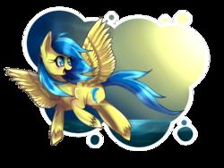 Size: 1200x900 | Tagged: safe, artist:scythegirl, oc, oc only, oc:blueberry blitz, pegasus, pony, happy, solo