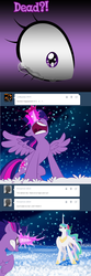 Size: 750x2248 | Tagged: safe, artist:sakuyamon, princess celestia, twilight sparkle, alicorn, pony, angry, askeostwilightsparkle, female, gritted teeth, mare, rage, tumblr, twilight sparkle (alicorn)