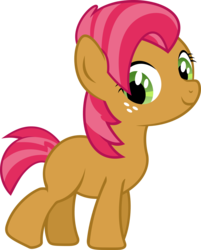 Size: 2644x3287 | Tagged: safe, artist:sunran80, edit, babs seed, bloom and gloom, adorababs, blank flank, cute, female, simple background, solo, transparent background, vector