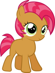 Size: 5157x6809 | Tagged: safe, artist:silentmatten, babs seed, earth pony, pony, absurd resolution, blank flank, female, filly, freckles, simple background, smiling, solo, transparent background, vector