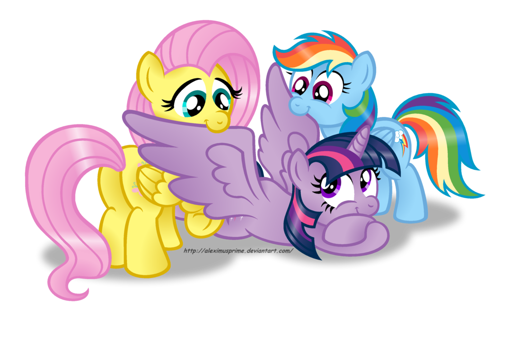 Watch little pony twilight fluttershy rainbow dash-45