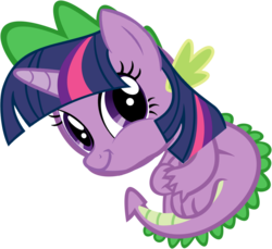 Size: 1024x940 | Tagged: safe, edit, spike, twilight sparkle, twiface, wat, wrong neighborhood