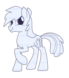 Size: 1500x1700 | Tagged: lined paper, oc, oc only, oc:sketchy the notebook pony, safe, simple background, solo, traditional art, transparent background, twiface, wrong neighborhood