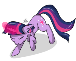 Size: 5000x4000 | Tagged: artist:tlatophat, glowing horn, magic, safe, struggling, twilight sparkle