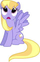 Size: 3339x5147 | Tagged: safe, artist:silvervectors, cloud kicker, pegasus, pony, background pony, female, looking up, mare, simple background, sitting, solo, transparent background, vector