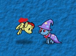 Size: 3000x2215 | Tagged: safe, artist:fineprint-mlp, trixie, oc, alicorn amulet, glowing eyes, paper mario, paper pony, sethisto