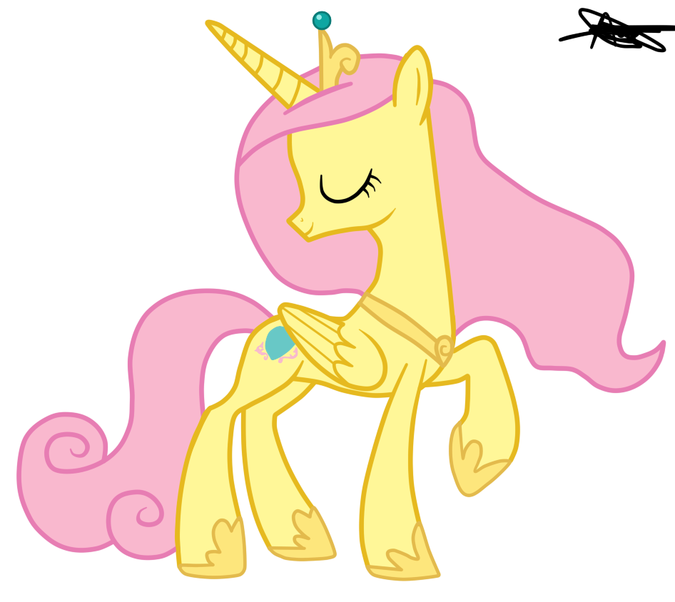 My little pony fluttershy princess for Small princess