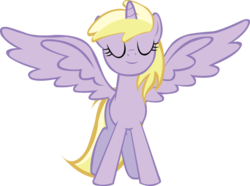 Size: 649x483 | Tagged: alicorn, alternate universe, artist:schwarzekatze4, dinkycorn, dinky hooves, harmony-verse, pony, safe, simple background, solo, transparent background, vector