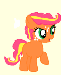 Size: 284x348 | Tagged: safe, oc, oc only, adoptable, filly, magical lesbian spawn, name contest, offspring, parent:applejack, parent:pinkie pie, parents:applepie, solo