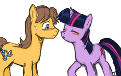 Size: 900x565 | Tagged: safe, artist:johnjoseco, caramel, twilight sparkle, caralight, colored, shipping