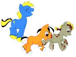 Size: 2048x1536 | Tagged: safe, artist:redflamekitty44, dory, finding nemo, nemo, ponified, squirt