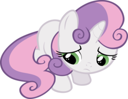 Size: 3234x2501 | Tagged: artist:liggliluff, cute, sad, sadorable, safe, show accurate, simple background, solo, sweetie belle, transparent background, vector