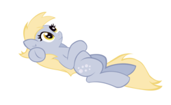 Size: 10000x6153 | Tagged: safe, artist:alexpony, derpy hooves, pegasus, pony, .psd available, absurd resolution, female, mare, on back, simple background, solo, transparent background, vector