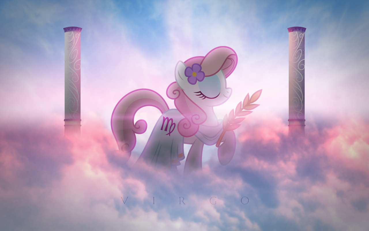 289373 Artist Vexx3 Ponyscopes Safe Solo Virgo Wallpaper Zodiac Derpibooru