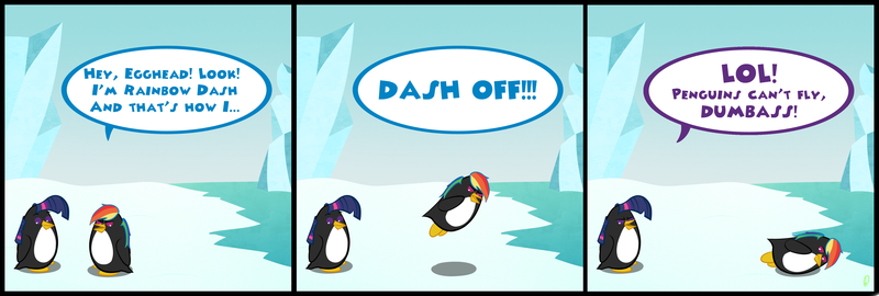 Rainbow Dash the penguin