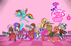 Size: 1228x790 | Tagged: applejack, artist:metal-kitty, barrel, big macintosh, crossover, demoman, demozecora, derpy hooves, derpy soldier, dispenser, earth pony, engie pie, engineer, female, flamethrower, flutterpyro, fluttershy, flying, gas mask, glasses, glowing horn, goggles, grenade, gun, heavy, heavy mac, heavy weapons guy, hooves, horn, knife, levitation, machine gun, magic, male, mare, mask, medic, minigun, mouth hold, mushroom cloud, optical sight, pegasus, pinkie pie, pony, pony fortress 2, pyro, rainbow dash, rainbow scout, rarispy, rarity, rifle, rocket launcher, safe, scout, sniper, sniperjack, sniper rifle, soldier, spread wings, spy, stallion, sunglasses, team fortress 2, telekinesis, text, twilight sparkle, twi medic, unicorn, weapon, wings, wrench, zebra, zecora