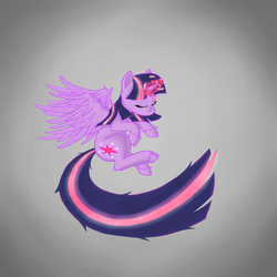 Size: 1000x1000 | Tagged: safe, artist:anegue, twilight sparkle, alicorn, pony, female, magic, mare, solo, twilight sparkle (alicorn)