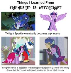 Size: 960x993   Tagged: safe, flash sentry, princess luna, shining armor, twilight sparkle, alicorn, human, pony, unicorn, friendship is witchcraft, equestria girls, equestria girls (movie), g4, brad, dreamy cutebottom, female, flashlight, francis sparkle, male, not creepy, not incest, shiningsparkle, shipping, straight, twilight sparkle (alicorn), wrong neighborhood