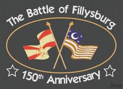 Size: 1200x869 | Tagged: safe, artist:slitherpon, american civil war, civil war, equestrian civil war, fillysburg, flag, gettysburg, ponified