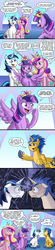 Size: 1000x4573   Tagged: safe, artist:pluckyninja, flash sentry, princess cadance, shining armor, twilight sparkle, pony, unicorn, friendship is witchcraft, equestria girls, equestria girls (movie), blushing, brad, comic, corndog, equestria girls ponified, female, flashlight, heart, is that gay?, male, mare, not creepy, not incest, palindrome get, ponified, race swap, shipping, stallion, straight, twilight sparkle (alicorn)