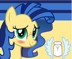Size: 550x450 | Tagged: artist needed, blushing, female, mare, oc, oc:milky way, oc only, pony, safe, solo