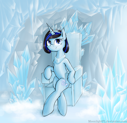 Size: 1947x1880 | Tagged: safe, artist:moonlightfl, oc, oc only, pony, unicorn, ice, queen, snow, winter