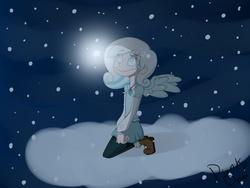 Size: 1400x1050   Tagged: safe, artist:2-lettdodd, oc, oc only, oc:snowdrop, humanized, skinny, winged humanization
