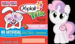 Size: 954x567   Tagged: safe, artist:felix-kot, sweetie belle, simple background, transparent background, trix, vector, whey corlett, yogurt