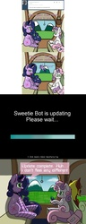 Size: 1024x2653   Tagged: safe, artist:scramjet747, sweetie belle, twilight sparkle, alicorn, pony, robot, arial, art shift, comic, comic sans, female, future sweetie bot, game boy, mare, older, self ponidox, sweetie bot, sweetie bot replies, twilight sparkle (alicorn)