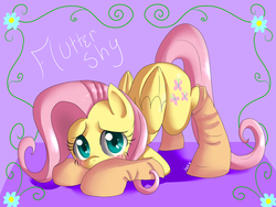 Size: 1600x1200 | Tagged: artist:annakitsun3, blushing, clothes, cute, face down ass up, fluttershy, safe, shy, shyabetes, socks, solo