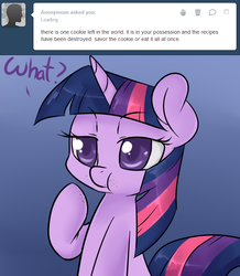 Size: 654x750 | Tagged: safe, artist:lustrous-dreams, twilight sparkle, ask filly twilight, solo, tumblr