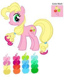 Size: 600x640 | Tagged: safe, artist:alicatkat, oc, oc only, oc:maggie pie, earth pony, pony, magical lesbian spawn, offspring, parent:applejack, parent:pinkie pie, parents:applepie, solo, watermark