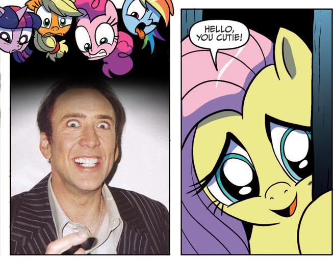 Nicolas Cage Rainbow Background 314916 - applejack, fluttershy ...