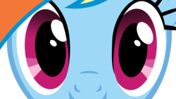 Size: 1920x1080 | Tagged: safe, rainbow dash, close-up, eyes, simple background, solo, stare, transparent background, vector