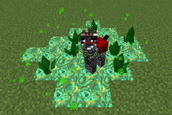 Size: 1068x715   Tagged: safe, king sombra, pony, unicorn, crystal, game screencap, mine little pony, minecraft, mod, solo, tiberium
