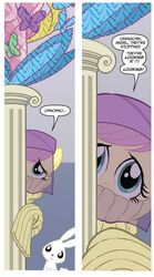 Size: 334x601 | Tagged: angel bunny, clothes, fluttershy, idw, safe, shy, spoiler:comicm04, sweater, sweatershy, veil