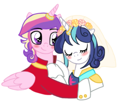 Size: 929x790 | Tagged: safe, artist:reina-del-caos, princess cadance, shining armor, female, gleaming bolero, gleaming shield, male, prince bolero, rule 63, straight