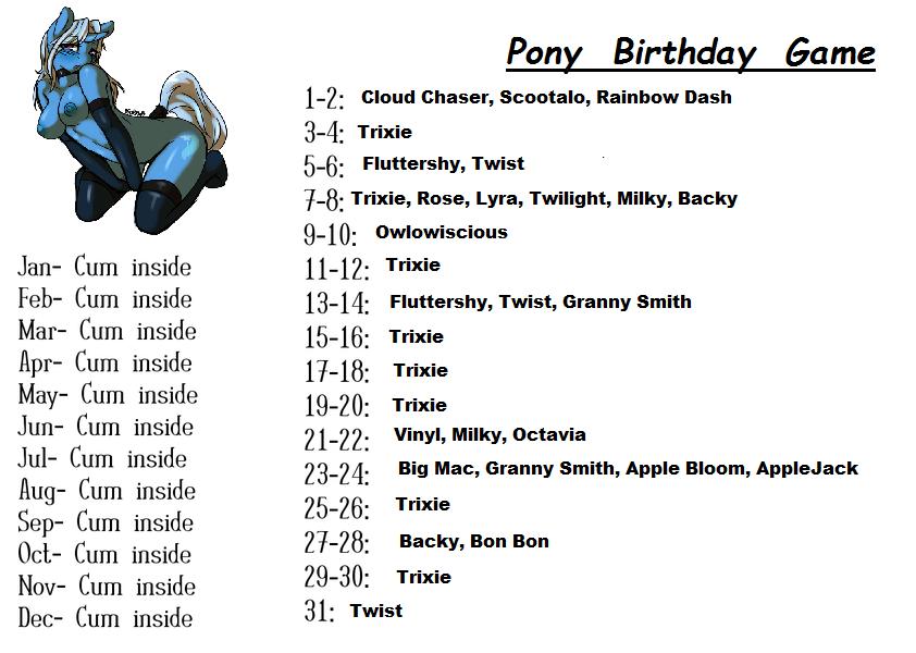 Birthday Sex Games