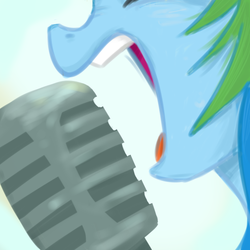Size: 600x600 | Tagged: artist:xieril, best of you, foo fighters, meme, microphone, rainbow dash, safe, solo