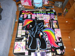 Size: 4608x3456 | Tagged: safe, derpy hooves, dj pon-3, doctor whooves, pinkie pie, rainbow dash, rarity, time turner, twilight sparkle, vinyl scratch, pegasus, pony, female, irl, mare, merchandise, photo, plushie, toy