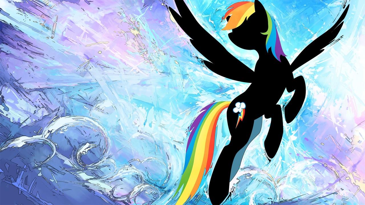 319426 Artist Genjilim Rainbow Dash Safe Silhouette Solo