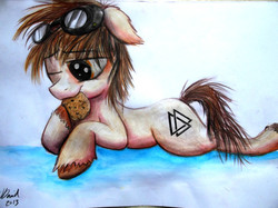 Size: 4608x3440 | Tagged: safe, artist:duh-veed, oc, oc only, traditional art