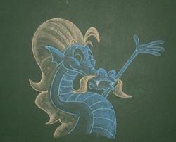 Size: 1880x1520 | Tagged: safe, artist:azdaracylius, steven magnet, chalk, chalkboard, traditional art