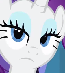 Size: 506x563 | Tagged: safe, rarity, face, reaction image, solo, unamused