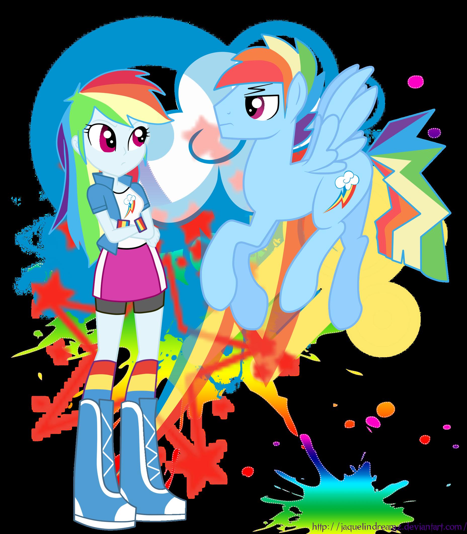 Rainbow Blitz x Rainbow Dash Human Blitz Rainbow Dash