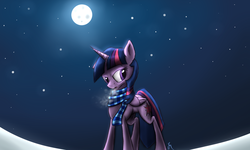 Size: 2000x1200 | Tagged: safe, artist:killamnjaro, twilight sparkle, alicorn, pony, clothes, female, mare, scarf, solo, twilight sparkle (alicorn), winter
