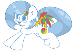 Size: 1280x885 | Tagged: artist:extradan, browser ponies, chest fluff, google chrome, oc, oc:google chrome, oc only, pegasus, ponified, pony, safe, solo