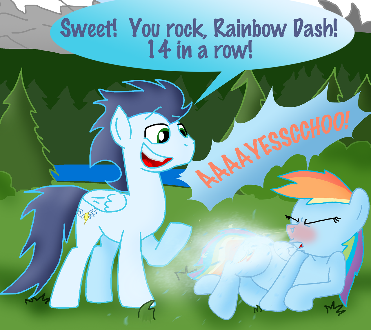 My Little Pony Princess Rainbow Dash And Soarin Wroc