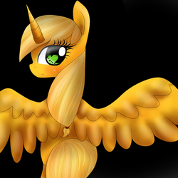 Size: 1000x1000 | Tagged: alicorn, alicornified, applecorn, applejack, artist:sasifrass, pony, race swap, safe, simple background, solo